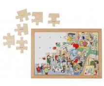 [Matematické puzzle - Sčítání do 20 (24 dílků)]