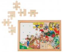 [Matematické puzzle - Odčítanie do 20 (24 dielikov)]