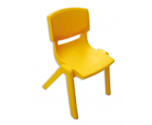 [Stolička plast. 35 cm žltá]