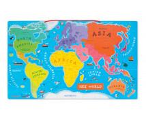 [Magnetická drevená mapa sveta]