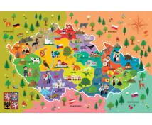 [Náučné puzzle - Mapa Česka]
