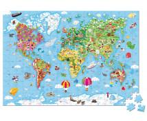 [Duże puzzle - Mapa świata]