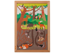 [Drevené puzzle - Nad a pod - V lese (35 dielikov)]