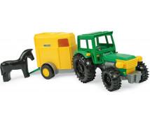[Traktor z wózkiem i koniem]