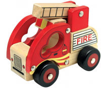 [Drewniane auto- Wóz strażacki]