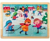 [Dřevěné puzzle - Zima]
