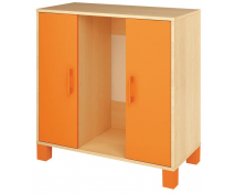 [Skříňka na kontejnery s dvířky - oranžová]