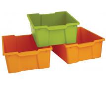 [Plastové kontejnery velké, sada 4 ks - oranžové]