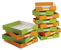 [Kartónové zásuvky malé, sada 8 ks - oranžové]