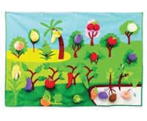 [Kde roste ovoce a zelenina? - podložka]
