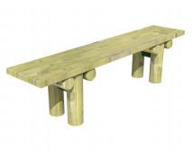 [Dřevěná lavička bez opěradla, pevná]
