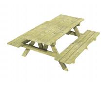 [Dřevěný stůl s lavičkami, přenosný]