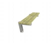 [Dřevěná lavička bez opěradla  a s betónovými nohami, pevná ]