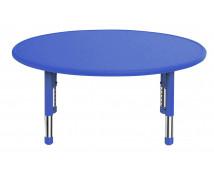 [Plastová stolová doska - kruh - modrá]