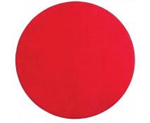 [Jednokolorowy dywan - średnica 1 m - czerwony]