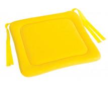 [Sedák na stoličku 1 - žltý 28x28 cm]