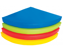 [Matrac - Čtvrtkruh, 90x90x10 cm, modrý]