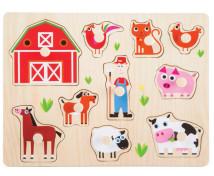 [Vkládací puzzle - Zvířata z farmy]