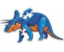 [Veľké penové podlahové puzzle- Triceratops]