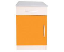 [Elegantní skříňka se zásuvkou - oranžová]