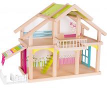 [Poschodový domček pre bábiky s terasou]