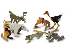 [Papírové sochy - Divoká zvířata (20 x 22,5 cm)]
