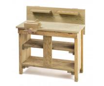 [Drevený pracovný stôl]