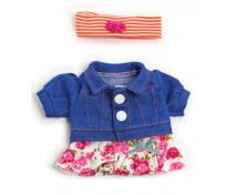 [Oblečenie pre bábiky - 21 cm - Šaty s čelenkou]