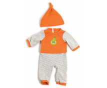 [Ubranka dla lalek - 38 cm pomarańcz.piżamka z czap]