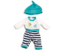 [Ubranka dla lalek - 32 cm Piżamka z czapeczką chł.]