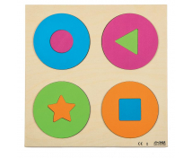 [Vkládací puzzle - Kruhy a tvary]