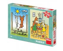 [Puzzle 2v1 - Pejsek a kočička]