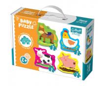 [Baby puzzle - Zvířátka z farmy]