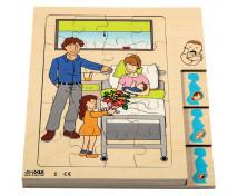 [Vrstvové puzzle - Maminka a miminko]