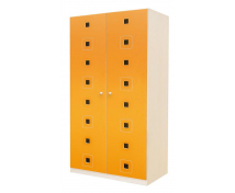 [Dveře 8 - MDF - Čtverce - oranžové]