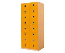 [Dveře 6 - MDF - Čtverce - oranžové]