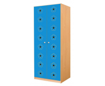[Dveře 6 - MDF - Květy - modré]