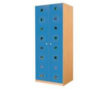 [Dveře 6 - MDF - Čtverce - modré]