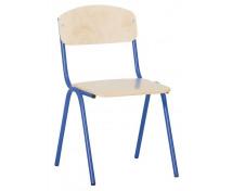 [Stolička s kov. konštrukciou , 31cm modrá]
