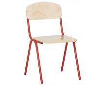 [Židlička s kovovou konstrukcí - výška sedu 35 cm - červená]
