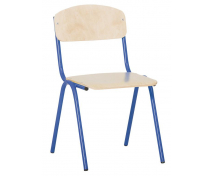 [Židlička s kovovou konstrukcí - výška sedu 35 cm - modrá]