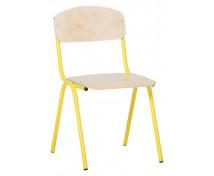 [Stolička s kov. konštrukciou , 35cm žltá]