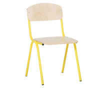 [Židlička s kovovou konstrukcí - výška sedu 35 cm - žlutá]