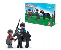 [Igráček Trio - 2 rytieri a čierny kôň]