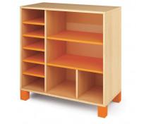 [Skříňka nízká kombinovaná - oranžová]