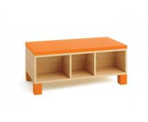 [Skříňka na sezení - oranžová]