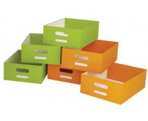 [Kartónové zásuvky veľké, sada 4 ks - oranžové]