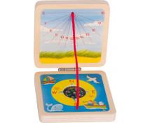 [Sluneční hodiny a kompas 6 ks]