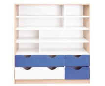 [Skříňka - ABS hrany o tloušťce až 2 mm - dřevotřískové desky o tloušťce až 18 mm Rozměr: 116 x 40 x 126,5 cm.KP3306MW]