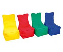[Textilní sedací vak - dětský - žlutý]
